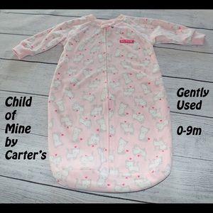Carter's 0-9m Pink Sleep Sack w/ White kittens